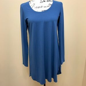 Eileen Fisher Blue Crew Neckline Tunic Dress Sz S